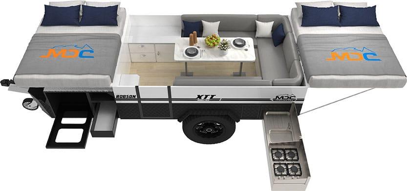 MDC Robson XTT Offroad Camper Trailer 3D Floorplan