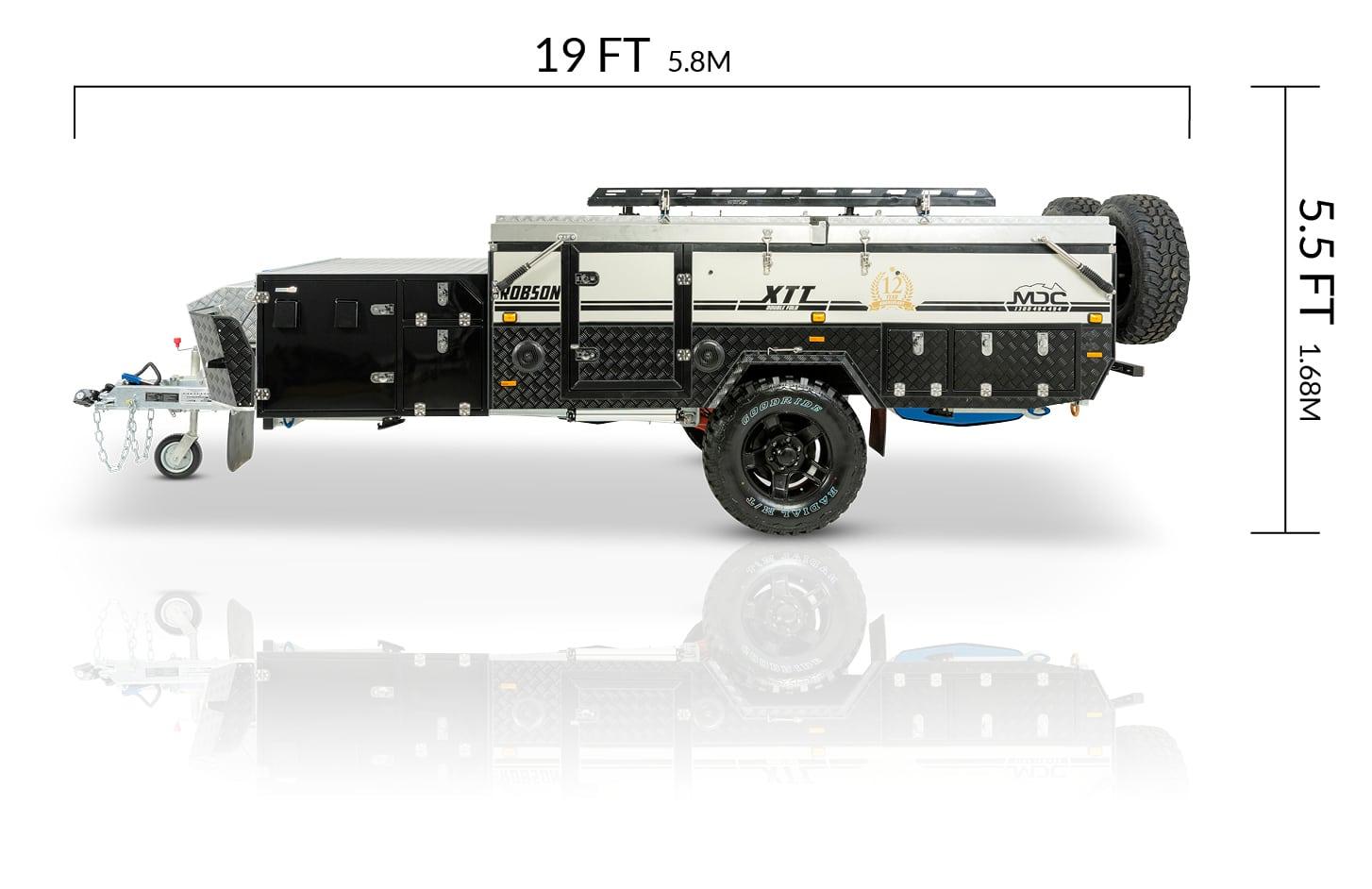 MDC USA Robson XTT overlanding camper trailer dimensions