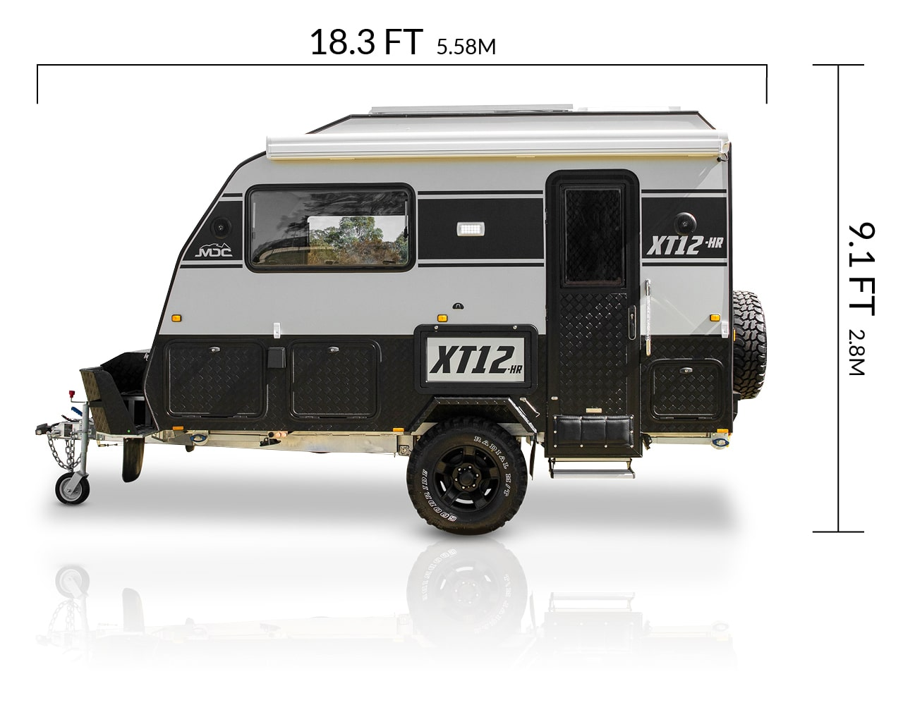 MDC USA XT12HR overlanding caravan dimensions