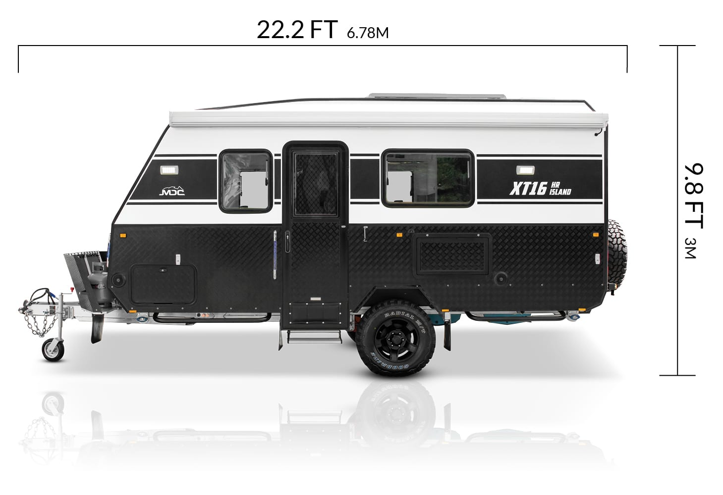 MDC USA XT16HR Island overlanding caravan dimensions
